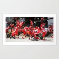 Team Work. Art Print