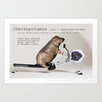 Checkopotamus Art Print