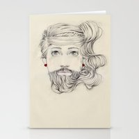Bearded Stationery Cards
