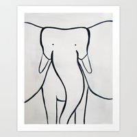 No. 002 - The Elephant (… Art Print