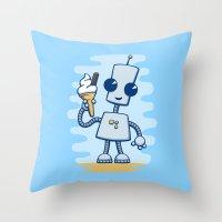 Ned's Ice Cream Throw Pillow