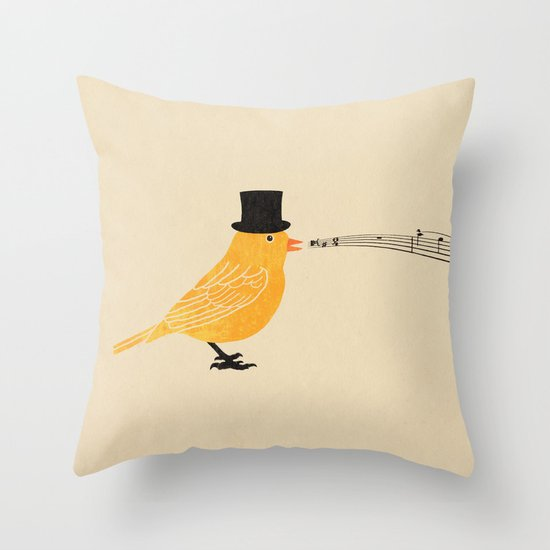 Classical Canary  Throw Pillow