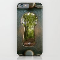 iPhone Cases featuring Alice in Wonderland Follow Me by AndreaClare
