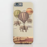 clouds iPhone & iPod Cases featuring Flight of the Elephants  by Terry Fan