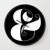 Inverse Ampersand Wall Clock