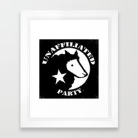 UNAFFILIATED PARTY STENCIL Framed Art Print