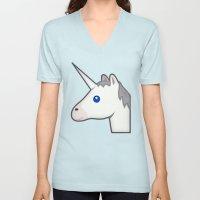 Unicorn Emoji Unisex V-Neck