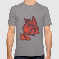 What About No Mens Fitted Tee Tri-Grey SMALL