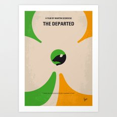 No506 My The Departed minimal movie poster Art Print