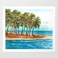 Private Island Painting Art Print