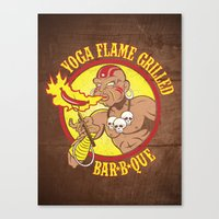 Yoga Flame Grilled BBQ Canvas Print