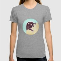 Climbing Raccoon Womens Fitted Tee Tri-Grey SMALL