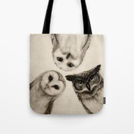 Tote Bag featuring The Owl's 3 by Isaiah K. Stephens