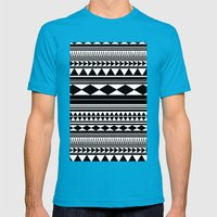 Tribal #5 Mens Fitted Tee Teal SMALL