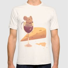 wine and cheese Mens Fitted Tee Natural SMALL