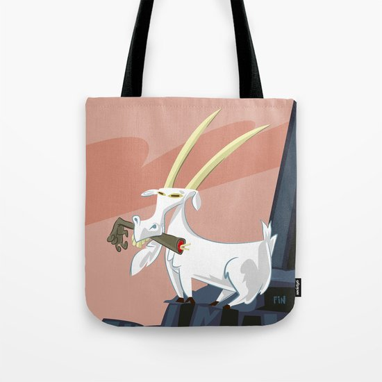 Trashmouth Goat, the Frost Giant Slayer Tote Bag