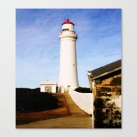 Cape Nelson Lighthouse & Keepers Quarters Canvas Print