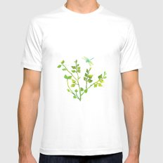 Dragonfly Three  Mens Fitted Tee SMALL White