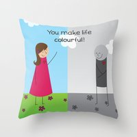 Colourful Life Throw Pillow