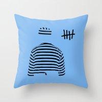 Prison (blue Ver.) Throw Pillow