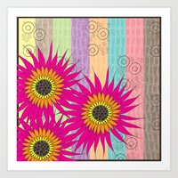 Flower Collage Art Print