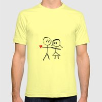 Marry Me  Mens Fitted Tee Lemon SMALL