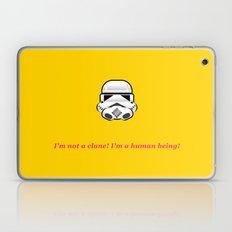 I'm not a clone! I'm a human being! Laptop & iPad Skin