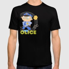 Police Mens Fitted Tee SMALL Black