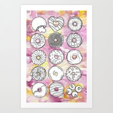 DONUTS OR DOUGHNUTS? Art Print