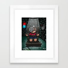 La chaise électrique Framed Art Print
