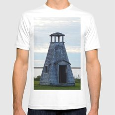 Wood Islands Playhouse Lighthouse Mens Fitted Tee White SMALL
