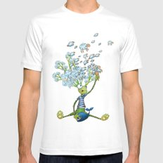 Misty mind SMALL White Mens Fitted Tee