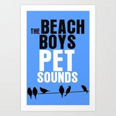 Pet Sounds - Beach Boys / LP Cover Art Poster  Art Print