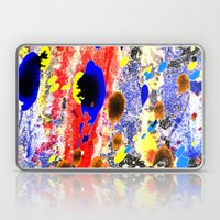 Abstract watercolour collage painting Laptop & iPad Skin