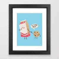 Cookie Loves Milk Framed Art Print