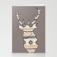 Fairisle Deer Stationery Cards