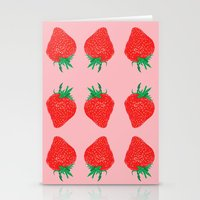 Strawberry Motif, 2013. Stationery Cards