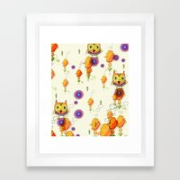 Owls Are Here Framed Art Print