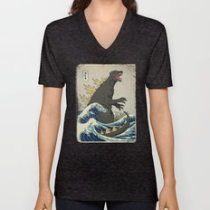 The Great Godzilla Off K… Unisex V-Neck