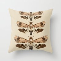 Acherontia Lachesis Throw Pillow