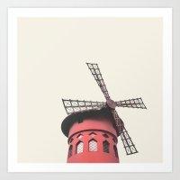 Moulin, Paris Art Print