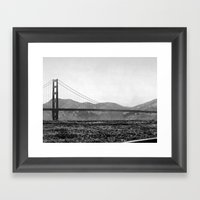 Golden San Fran Framed Art Print