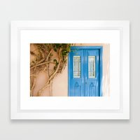 Blue Door in Chania, Crete Framed Art Print