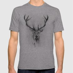 Red Deer Mens Fitted Tee Athletic Grey SMALL