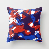 Scrunched paper pattern Throw Pillow