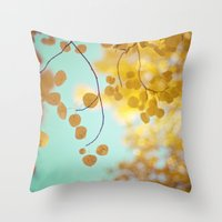 Nature's Gold Throw Pillow