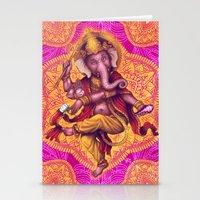 Ganesha (Color Variation 4) Stationery Cards