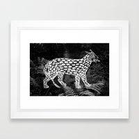 Forest Panther Framed Art Print