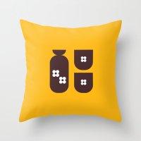 Japan Sake Throw Pillow