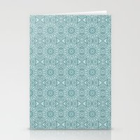 Abstract Blue Star Stationery Cards